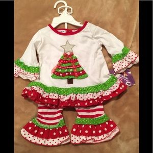 Girls 12M Christmas Outfit